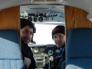 Our pilots - Mark (l) and Tyler (r)