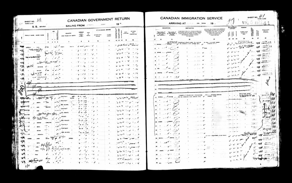 CanadianPassengerLists1865-1935