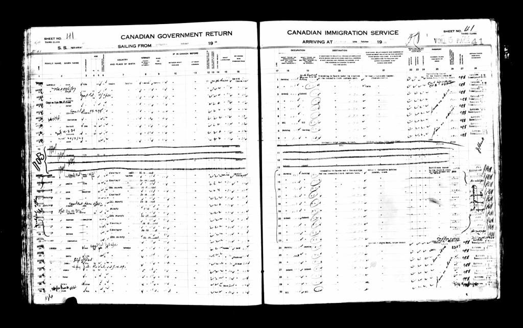 CanadianPassengerLists1865-1935